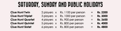 Weekend Rates